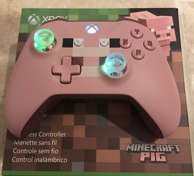 Minecraft Pig Limited Edition Led Glowing Mod Xbox One Controller