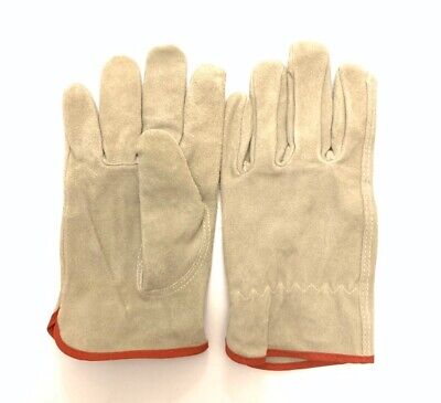 Leather Work Gloves Rn67368 100 Leather Medium Size M- 2pairs
