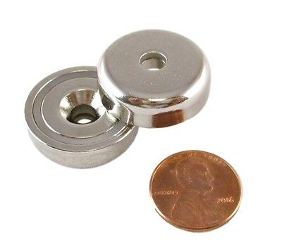 Manic Magnets 37 Pound 2 Pk Countersunk Hole For 10 Bolt Rare Earth Neodymium