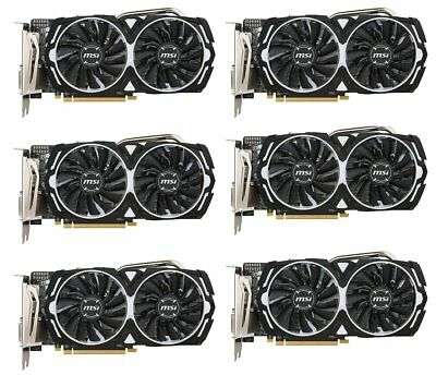 MSI RX 480 ARMOR 4G OC 6 PACK - BEST GPU FOR MINING ETH BTC LTC CRYPTOCURRENCY