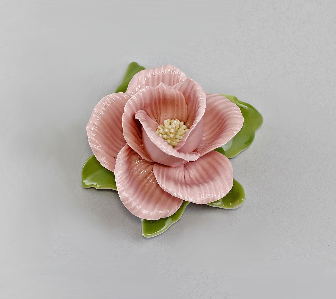 handmade  Table Rose Wild Rose Kämmer-Porcelain H4CM a3-44130
