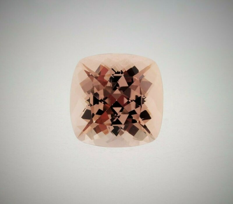 11.91ct 14mm cushion natural Peach color Morganite AAA Fine Quality