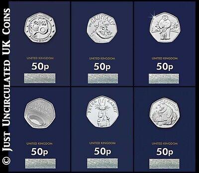 2019 Fifty Pence Coins BU - Snowman Gruffalo Peter Rabbit Stephen Hawking 50p UK