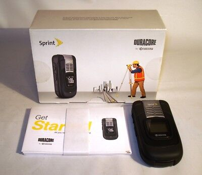 Kyocera DuraCore E4210 Cell Phone (Sprint) Military Grade // Flip / Black