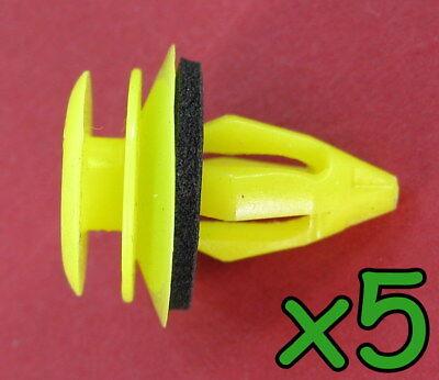 Car Parts - 5x RangeRover L322 interior door card panel trim clips fixing plastic yellow