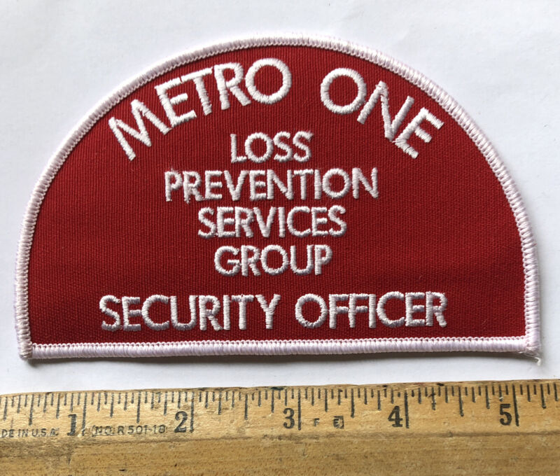 Vintage Metro One Security Officer Patch Loss Prevention Services Group New York