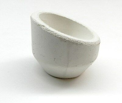 Melting Crucible High Back Dish Ceramic Melting Cup 10oz.capacity Gold Italian