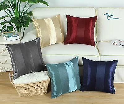 CaliTime Throw Pillow Cover Shells Home Sofa Stripes Geometr