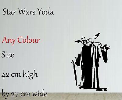 Star Wars inspired yoda silhouette vinyl decal sticker