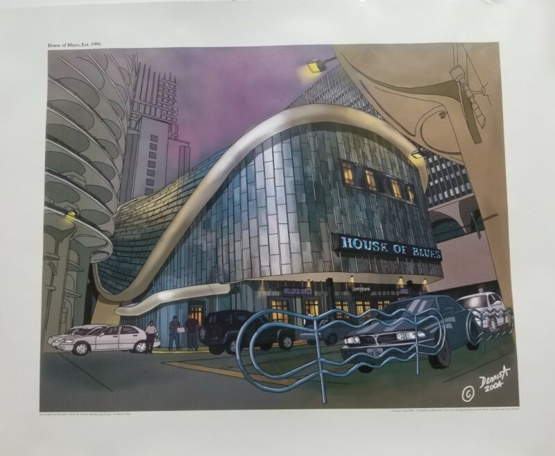 Rare 2010 House of Blues Chicago 19x27 Poster Print by Dennis Alex