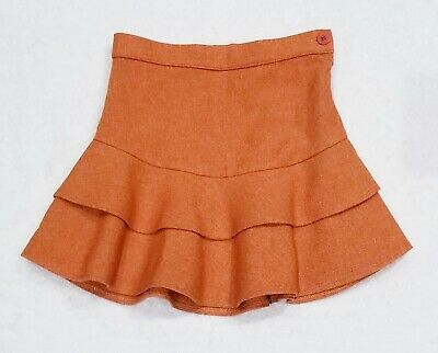 GIRL'S IL GUFO ITALIAN EURO BOUTIQUE CHIC TIERED RUFFLE WOOL-BLEND SKIRT $165 6Y