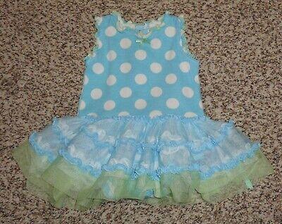 Baby Starters Baby Girls Polka Dot Dress Romper Tulle Tutu Newborn EUC
