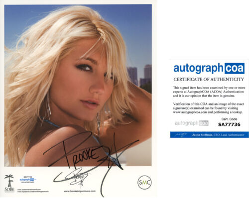 BROOKE HOGAN signed Autographed 8X10 PROMO PHOTO a WWE Hulk Hogan SEXY ACOA COA