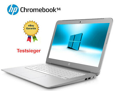 WIE NEU LAPTOP HP CHROMEBOOK 14 -SMB14 CELERON 2955U 1.4GHZ 4GB  SSD CAM  (Hp Chromebook Laptop)