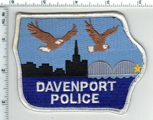 Davenport Police (Iowa) Shoulder Patch from a wall display
