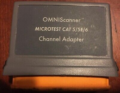 Microtest Omniscanner Category 6 Channel Adapter No.2950-4012-02 Network Fluke