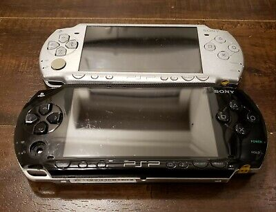 TWO Sony Playstation Portable|SILVER PSP-2001| BLACK PSP-1001| 2GB| NO Battery