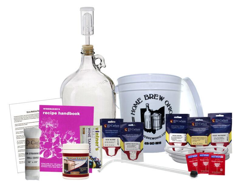 1 Gallon Making Wine from Fruit Equipment Kit