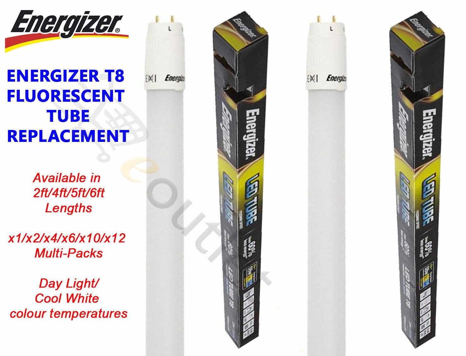 LED T8 Tube Light 50cm 2ft 3ft 4ft 5ft 6ft Fluorescent Retrofit Replacement