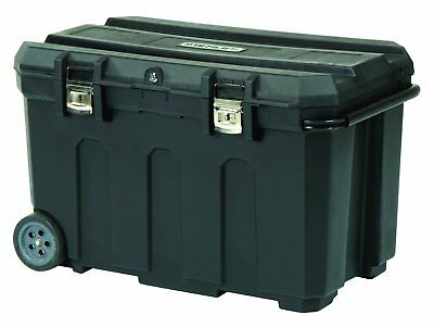 Stanley 50 Gal. Mobile Wheeled Rolling Lockable Tool Storage Chest Jobsite Box
