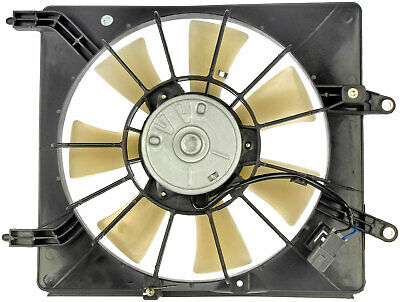Right A/C Condenser Fan Assembly (Dorman 620-260) w/ Shroud, Motor & Blade A/c Condenser Fan Shroud Assembly