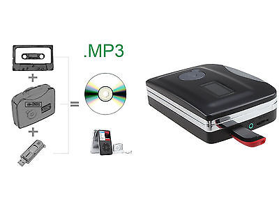 Tape to PC CD Cassette-to-MP3 Converter Audio Capture Player No need PC Software