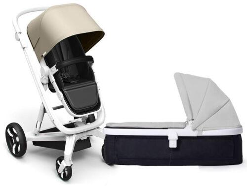 Milkbe Lulaby Reversible Auto Braking Pram System Baby Stroller w Carry Cot New