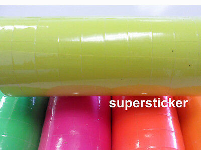 Yellow Price Tags For Mx-6600 2 Lines Gun 1 Tube X 13 Rolls X 500