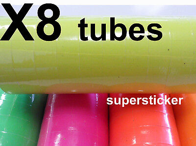 Yellow Price Tags For Mx-6600 2 Lines Gun 8 Tubes X 11 Rolls X 500