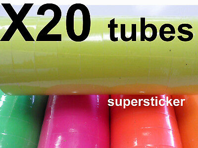 Yellow Price Tags For Mx-6600 2 Lines Gun 20 Tubes X 14 Rolls X 500