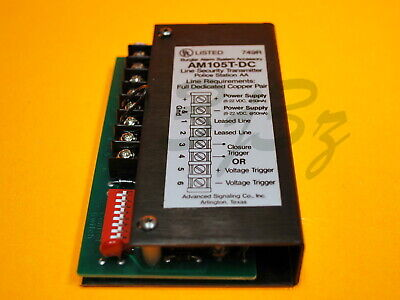Advanced Signaling Co. Am105t-dc Line Security Transmitter