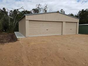 Custom Sheds and Garages with Concrete Slabs and Driveways