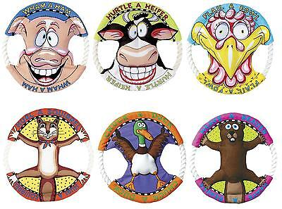 Fat Cat Dog Toy Rings - Fat Cat Rope Canvas Flyer Frisbee Disc Puppy Dog Toy