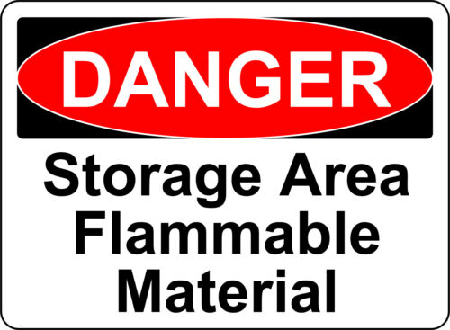 DANGER STORAGE AREA FLAMMABLE MATERIAL OSHA DECAL SIGN STICKER 3M USA MADE