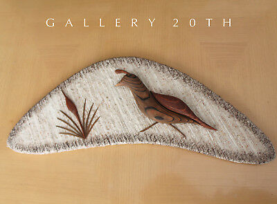 Used, COOL! MID CENTURY ROSEWOOD BIRD TEXTILE WALL ART! PARTRIDGE VTG 1950'S EAMES ERA for sale  Scottsdale