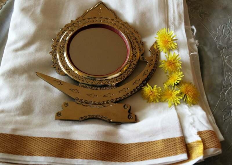 Aranmula metal mirror,India _Traditional Boat shape - Indian Traditional mirror