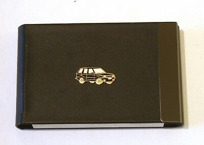 Off Roader Enamel Black Pu And Metal Business Credit Card Holder Gift 295
