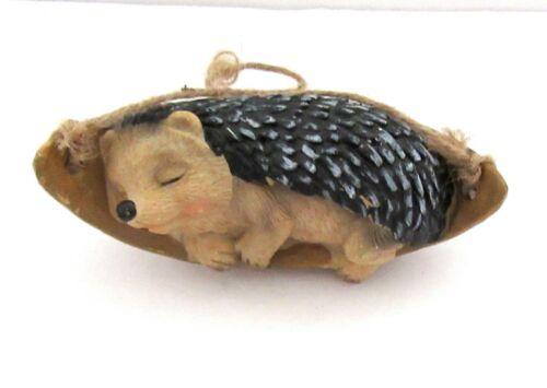 Hanging Resin Sleeping Hedgehog Animal  Figurine