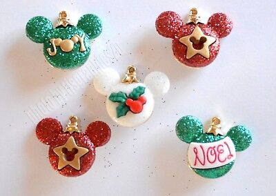 Mickey Ornaments / Disney Holiday ~ Dress It Up Button / Glitter - Disney Holiday Clothes
