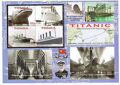 Tonga 100th Anniversary of the Cruise Ship Titanic Large Souvenir Sheet