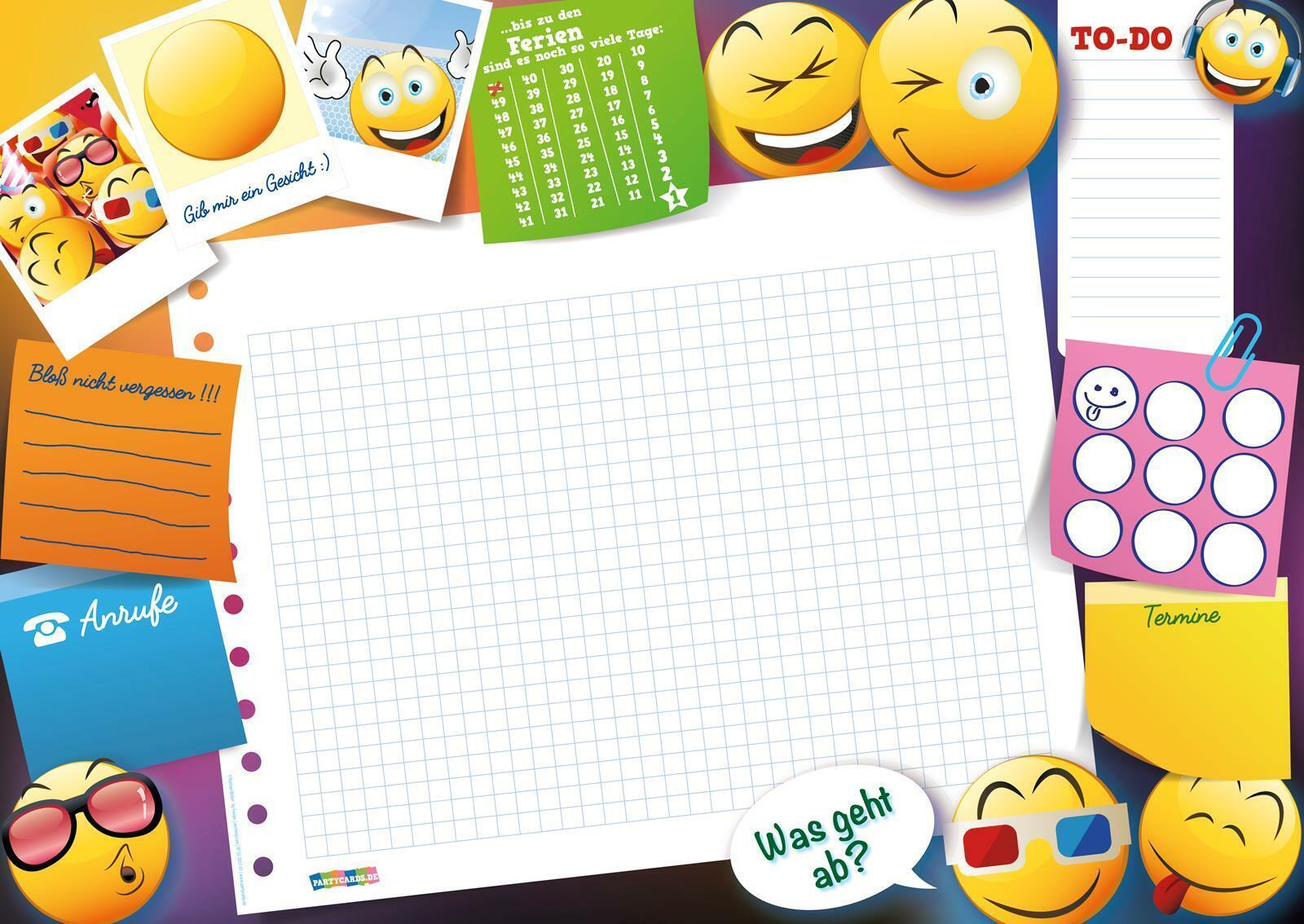 Kinder Schreibtischunterlage Einhorn A3 für Jungen Mädchen Schreibunterlage
