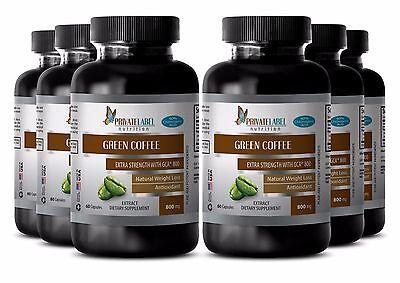 Grassy Coffee Bean Extract w/GCA 800 - Weight Loss - Blocks Fat Forming 360 Pills