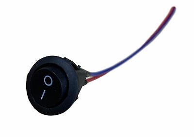 Imc Audio Black Single Piece 12v W 8 Lead Wire On Off Round Rocker Switch