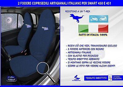 Copri sedili Smart Fortwo fodere coprisedile 450 451 set blu nero su misura per
