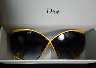 CHRISTIAN DIOR 2056 SUNGLASS NU LENSES & CASE EXTREMELY RARE YELLOW COLOR