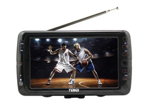 NAXA 7 INCH LCD SCREEN PORTABLE 12V AC/DC DIGITAL TUNER TV T