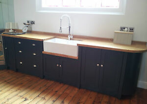Painted Free Standing Kitchen Belfast Sink Unit Cupboards