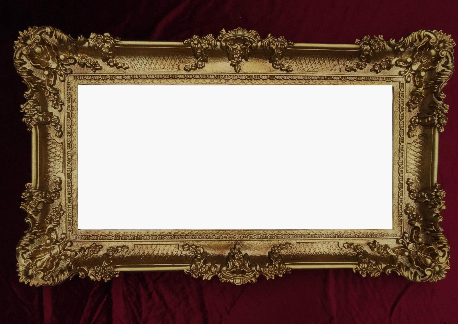 wandspiegel gold 96x57 antik spiegel barock rokoko. Black Bedroom Furniture Sets. Home Design Ideas