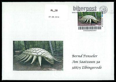 Dinosaurier-custom (GERMANY DINOSAUR DINOSAURI DINOSAURIER - CUSTOM STAMP - ONLY 2 COVER MADE!! cp17)