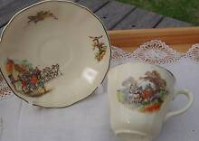 """Cup and saucer set: """"Horses and coaches"""" Ivanhoe Banyule Area Preview"""